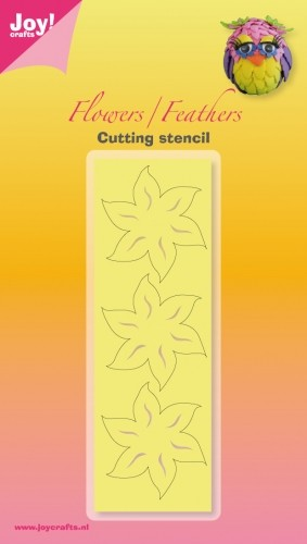 Cutting & Embossing mal - Joy! Crafts - Leaves / Feathers bloem 2