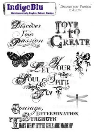 IndigoBlu - Rubber Stamp - A5 Discouver your Passion