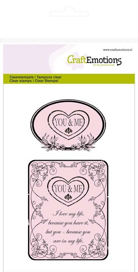 Clearstamp CraftEmotions - Botanical You & Me A6