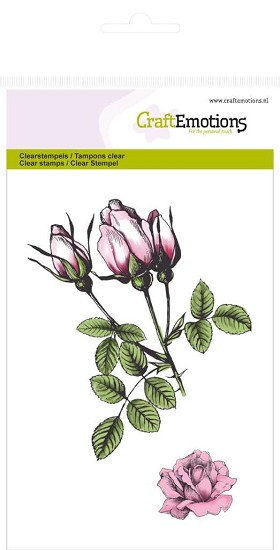 Clearstamp CraftEmotions - Botanical Rozenknoppen A6