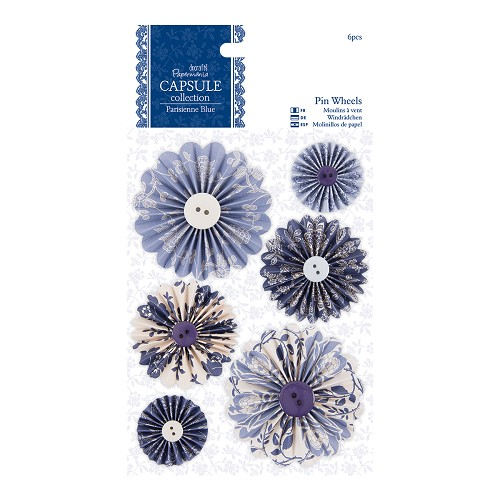 Pin Wheels (6pcs) - Capsule Collection - Parisienne Blue