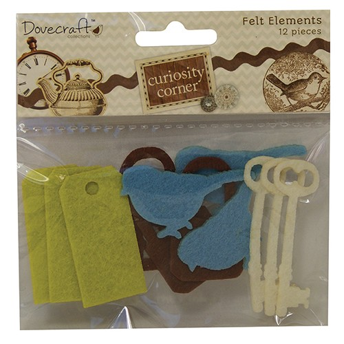 Dovecraft - Curiosity Corner Paper - Felt elements