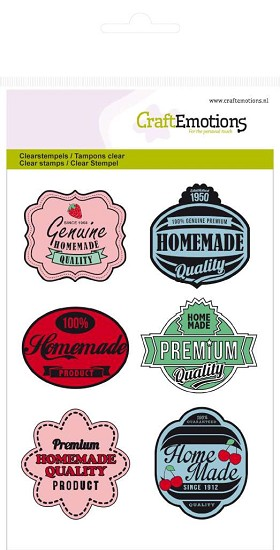 Clearstamp CraftEmotions - Fifties Kitchen - A6 Labels