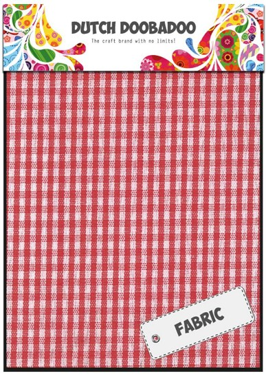 Dutch Doobadoo - Fabric Art - Textile Red Check