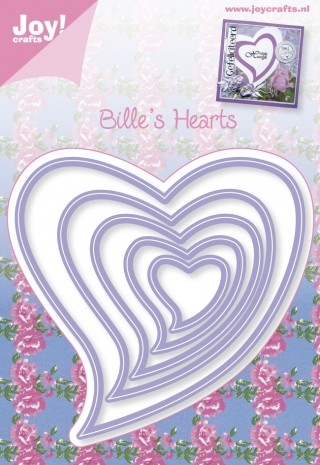 Joy! Crafts - Cutting & Embossing stencil - Bille`s Hearts (5st)