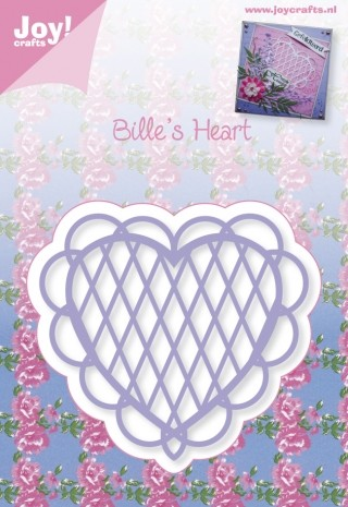 Joy! Crafts - Cutting & Embossing stencil - Bille`s Heart