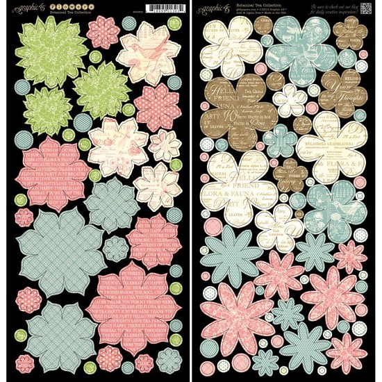 Cardstock Die-Cut Graphic45 - Botanical - Flowers