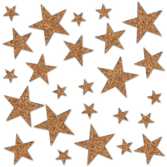 Studio Callico - Essentials Cork Shapes - Stars 24/Pkg