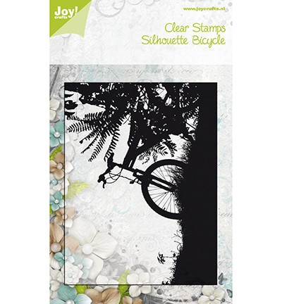 Noor! Design - Clear stamp - Silhouettes Bicycle on Sunset