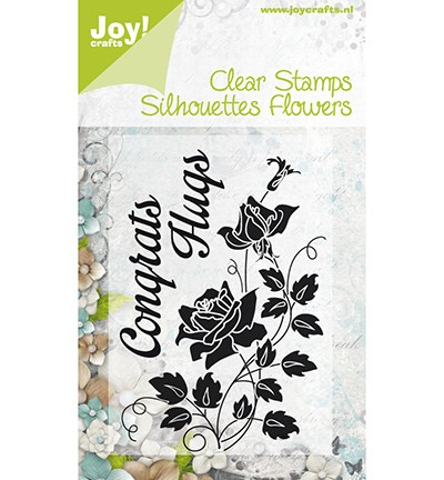 Noor! Design - Clear stamp - Silhouettes Flowers Congrats