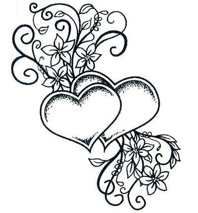 Stamp - Creative Expressions - Singles - Two Hearts Entwined