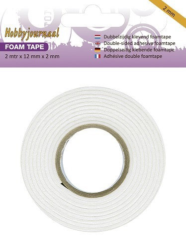 Hobbyjournaal - Foam tape 12mm breed  - 2mm