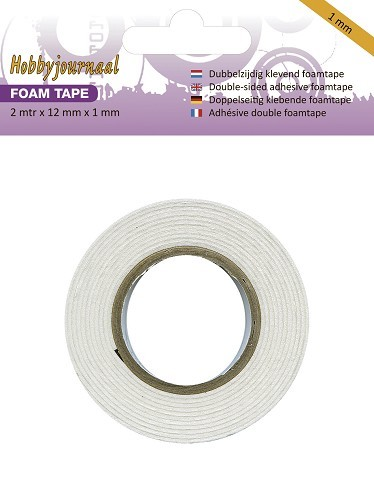 Hobbyjournaal - Foam tape 12mm breed  - 1mm