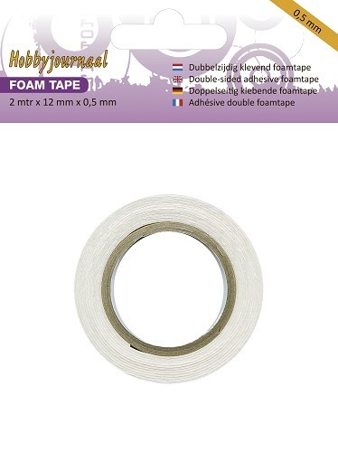 Hobbyjournaal - Foam tape 12mm breed - 0.5mm