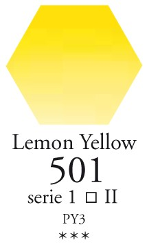 Sennelier - l`Aquarelle - Halve napjes - 501 Lemon Yellow