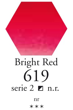 Sennelier - l`Aquarelle - Halve napjes - 619 Bright Red