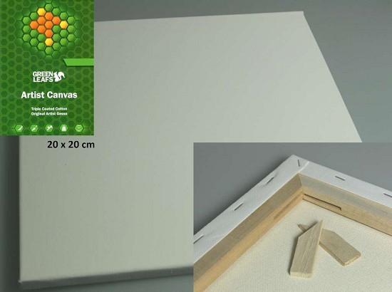 Canvasdoek 20 x 20 cm - 1,7cm dik
