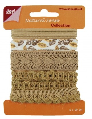 Joy! Crafts - Ribbons Natural Sense Collection 1 - set 3
