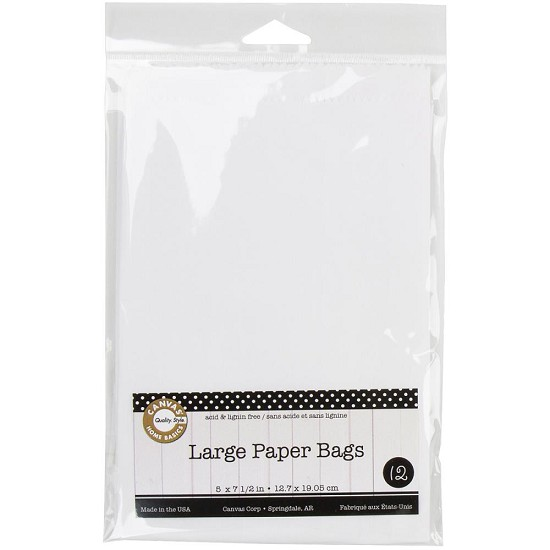 Canvas Corp - Large Paper Bags - White - 12,7 x 19,05 cm