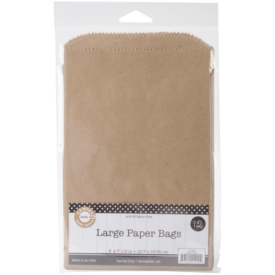 Canvas Corp - Large Paper Bags - Kraft - 12,7 x 19,05cm