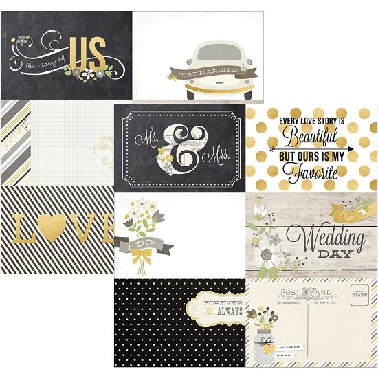 Scrappapier - Simple Stories - The Story of Us - 4x6 Horizontal Journaling Card Elements