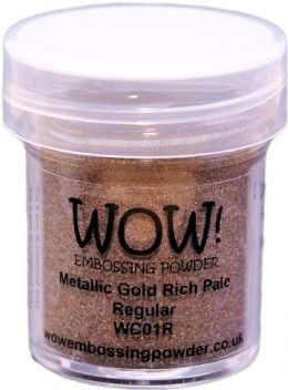 WOW embossingpoeder - Metallic Gold Rich Pale - Super Fine