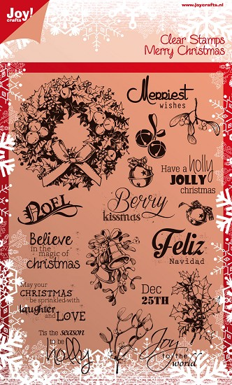 Noor! Design - Clear stamp - Merry Christmas