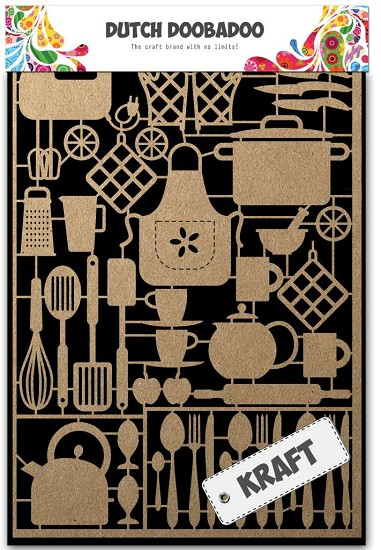 Dutch Doobadoo - Dutch Paper Art A5 - Kraft Kitchenware