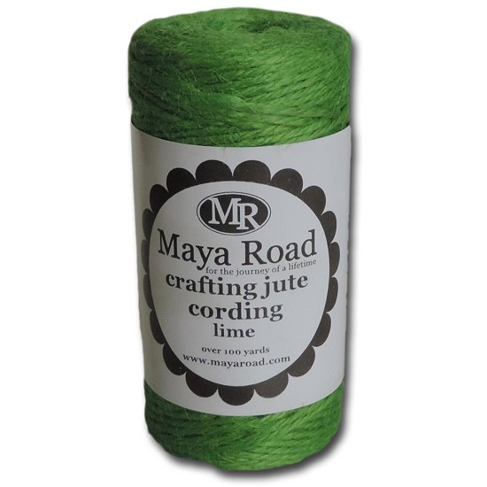 Maya Road - Crafting Jute Cording - 100yd - Lime Green