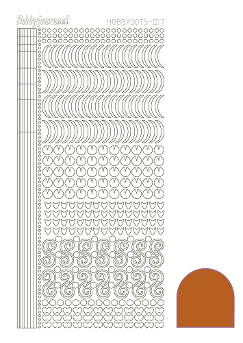 Hobbydots sticker - Mirror Copper - serie 17