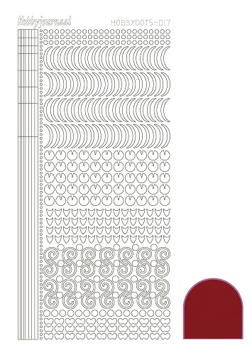 Hobbydots sticker - Mirror Red - serie 17