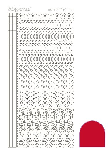 Hobbydots sticker - Adhesive Red - serie 17