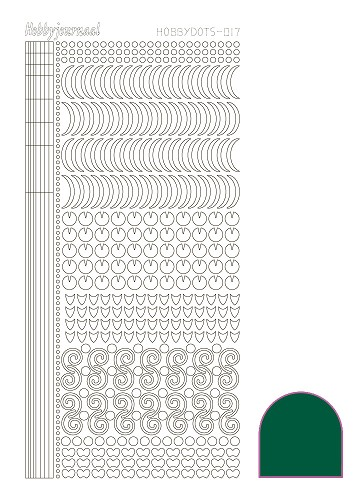 Hobbydots sticker - Adhesive Green - serie 17