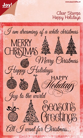 Noor! Design - Clear Stamp - Happy Holidays Christmas