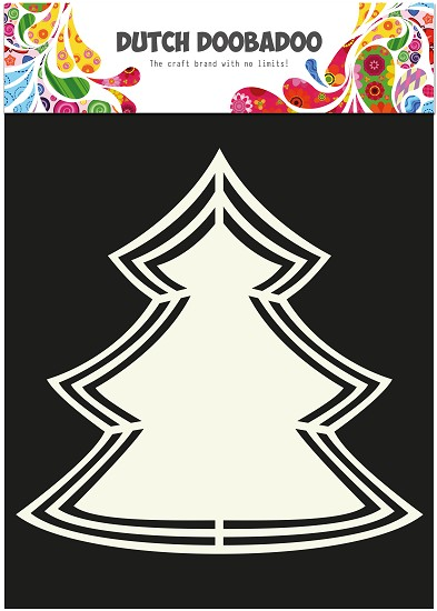 Dutch Doobadoo - Dutch Shape Art - Xmas Tree