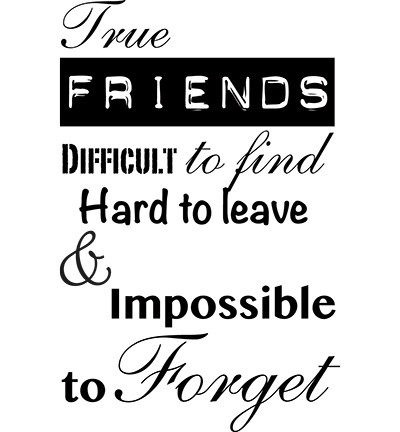 Marianne Design - Clearstamp - True Friends (tekst)