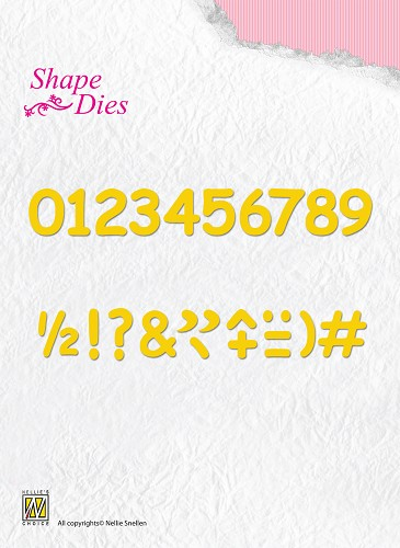 Nellie Snellen - Shape Die -  SD038 Numbers & punctuation marks