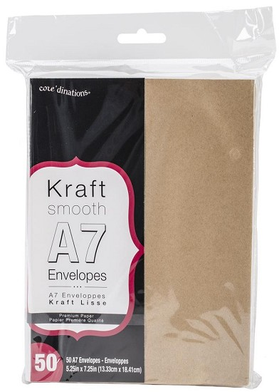 Kraft enveloppen - Core`dinations - A7