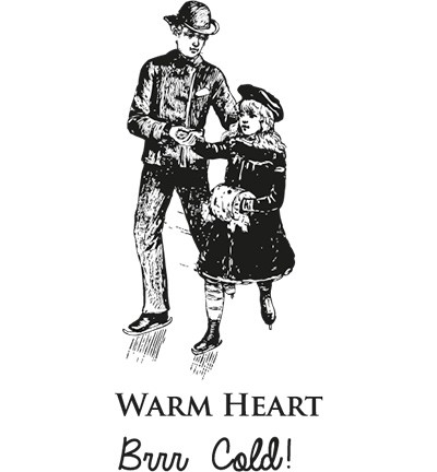 Cling Stamp MD - Warm Heart