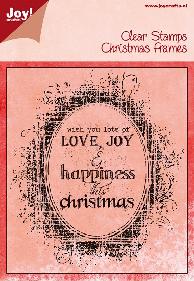 Noor! Design - Clear stamp - Happy Holidays - Christmas Frames Love, Joy