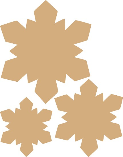 Dutch Doobadoo - MDF Art stars (set of 3)