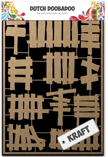 Dutch Doobadoo - Dutch Paper Art A5 - Wooden fences