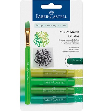 Faber Castell - Gelatos - Aquarelkrijt set Groen