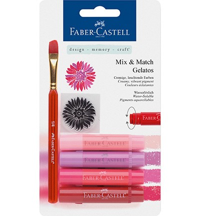 Faber Castell - Gelatos - Aquarelkrijt set Rood
