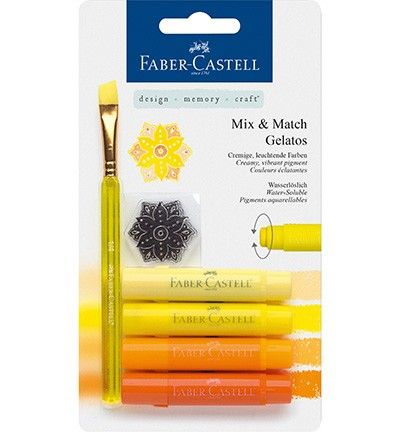 Faber Castell - Gelatos - Aquarelkrijt set Geel
