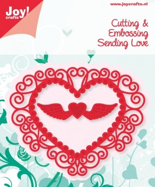 Noor! Design - Cutting & Embossing stencil -  Sending Love - Hart