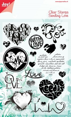 Noor! Design - Clear stamp - Sending Love Hart beat