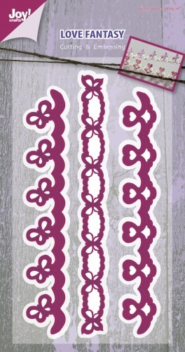 Joy! Crafts - Cutting & Embossing stencil - Mery`s Love Fantasy borders