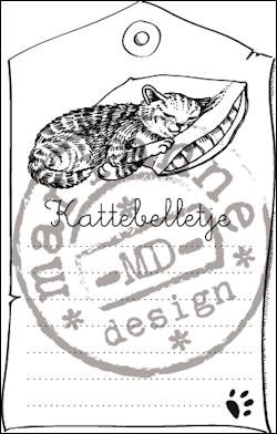 Marianne Design - Clearstamp Kattebelletje