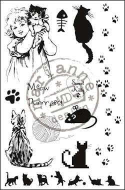 Marianne Design - Clearstamp Sweet Kitty